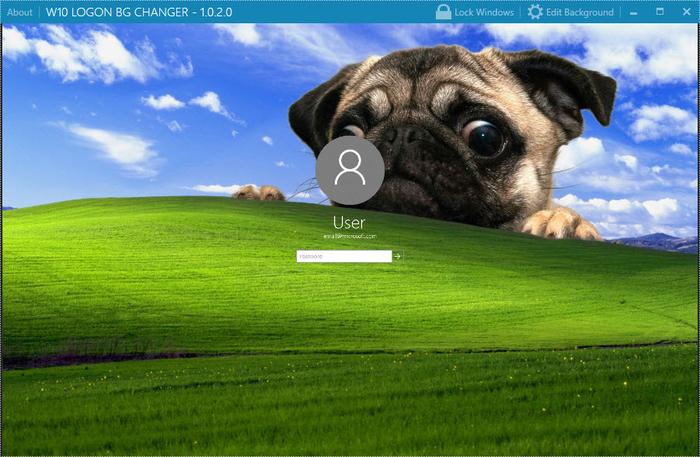 Windows 10 Login Background Changer   Download 700x457