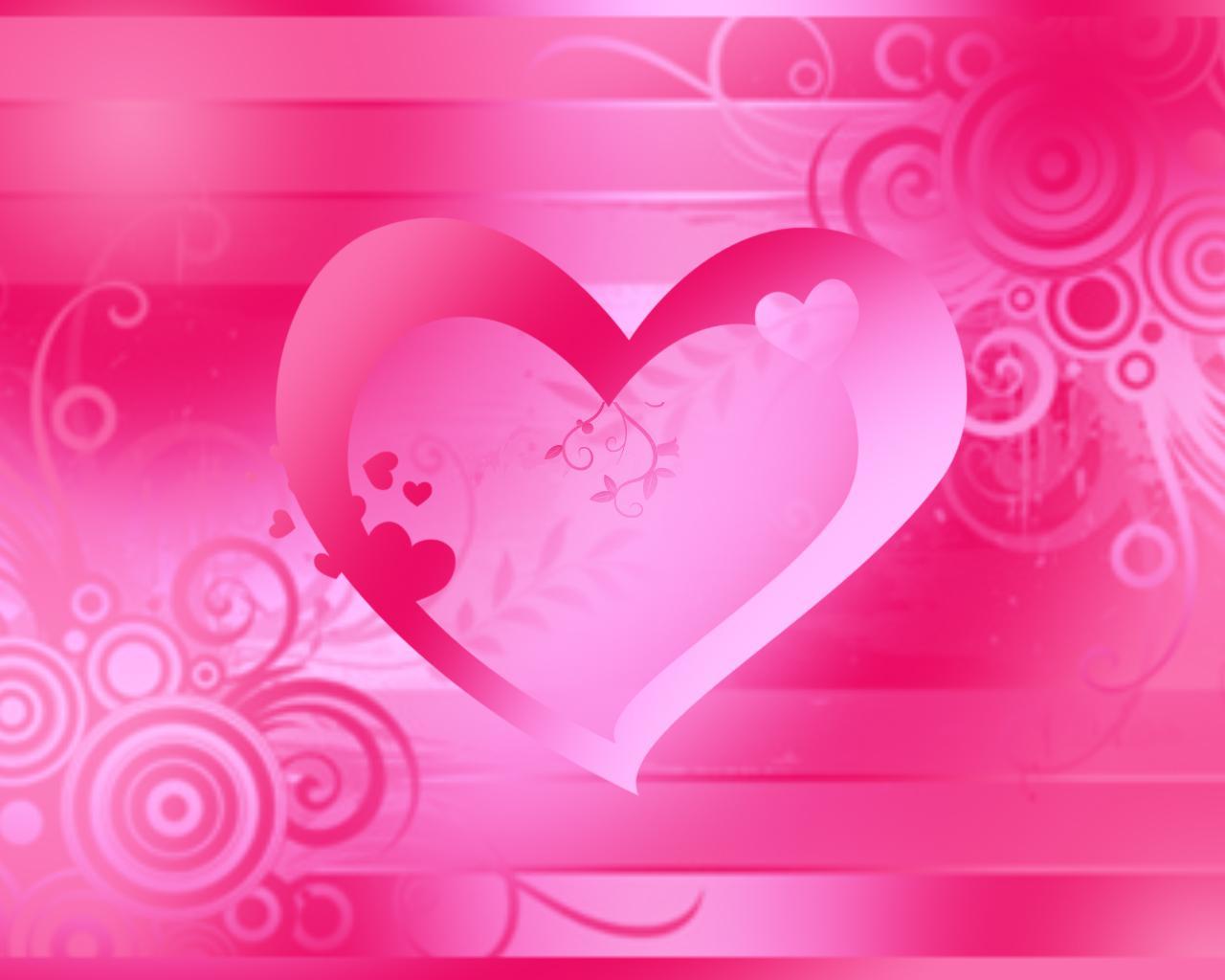 68 Pink Heart Background On Wallpapersafari