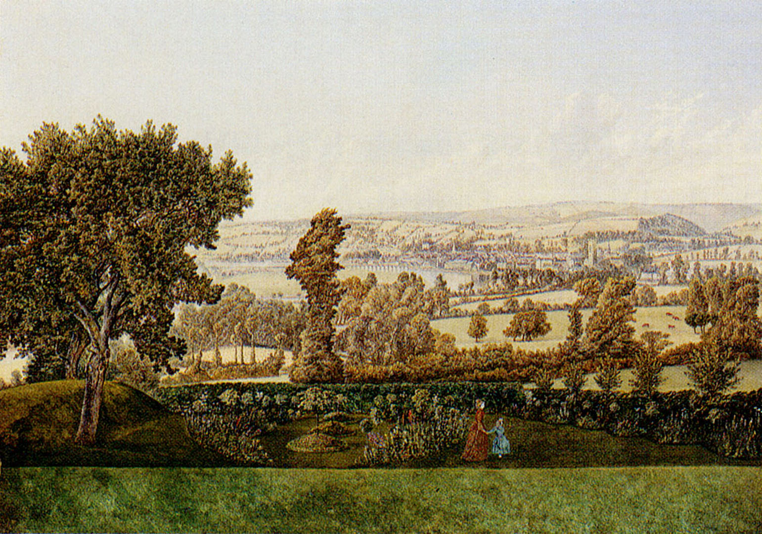 Garden Landscape In The West Country   English Art Wallpaper Image 1541x1080
