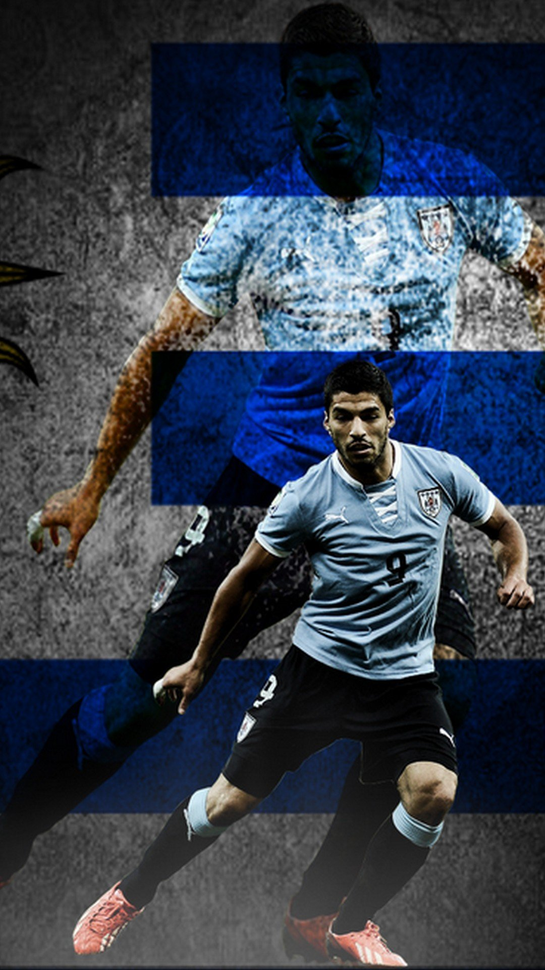 Luis Suarez Uruguay iPhone Wallpaper 2019 3D iPhone Wallpaper 1080x1920