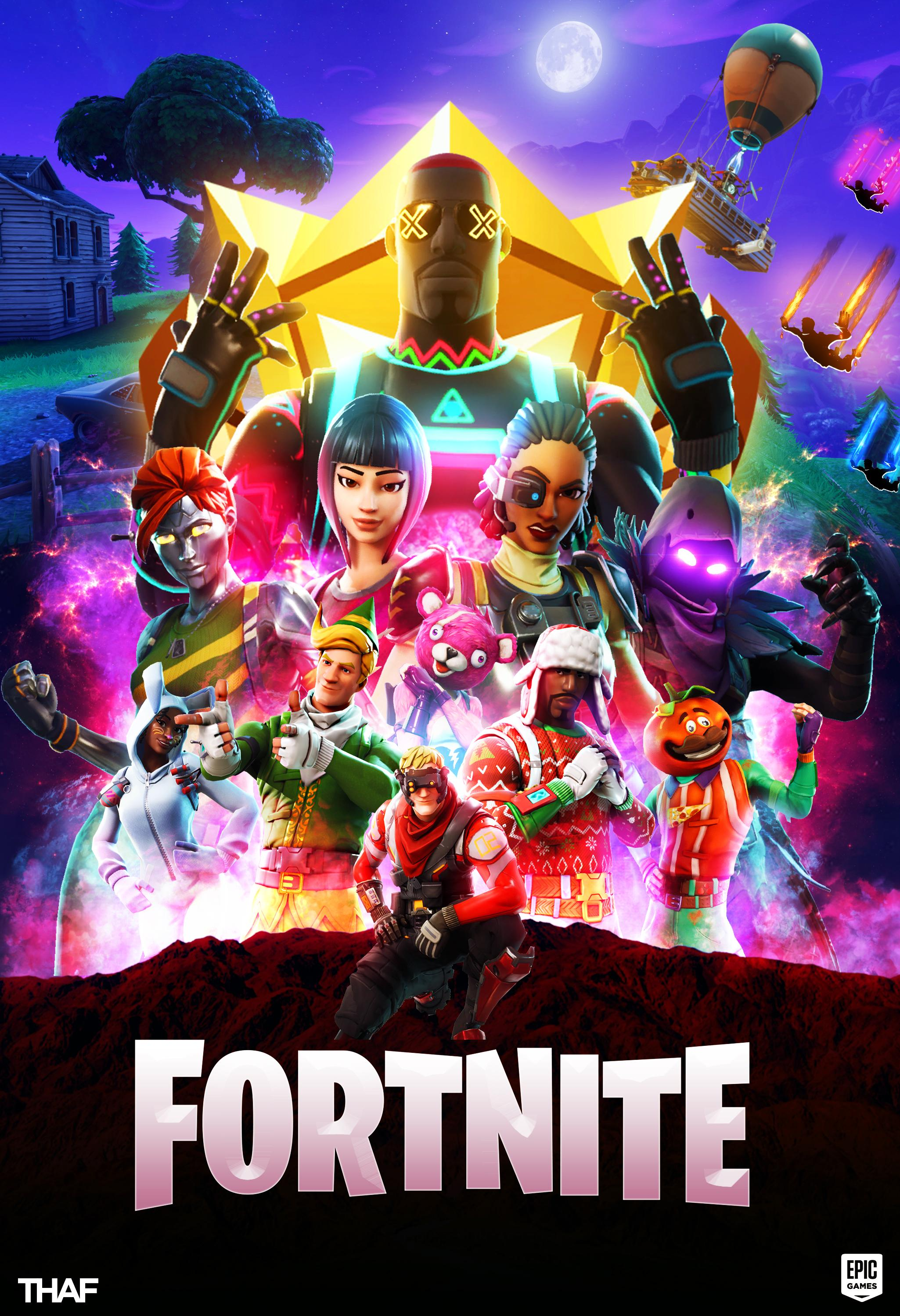 Made this poster for Fortnite Hope you all like FortNiteBR 2050x3000