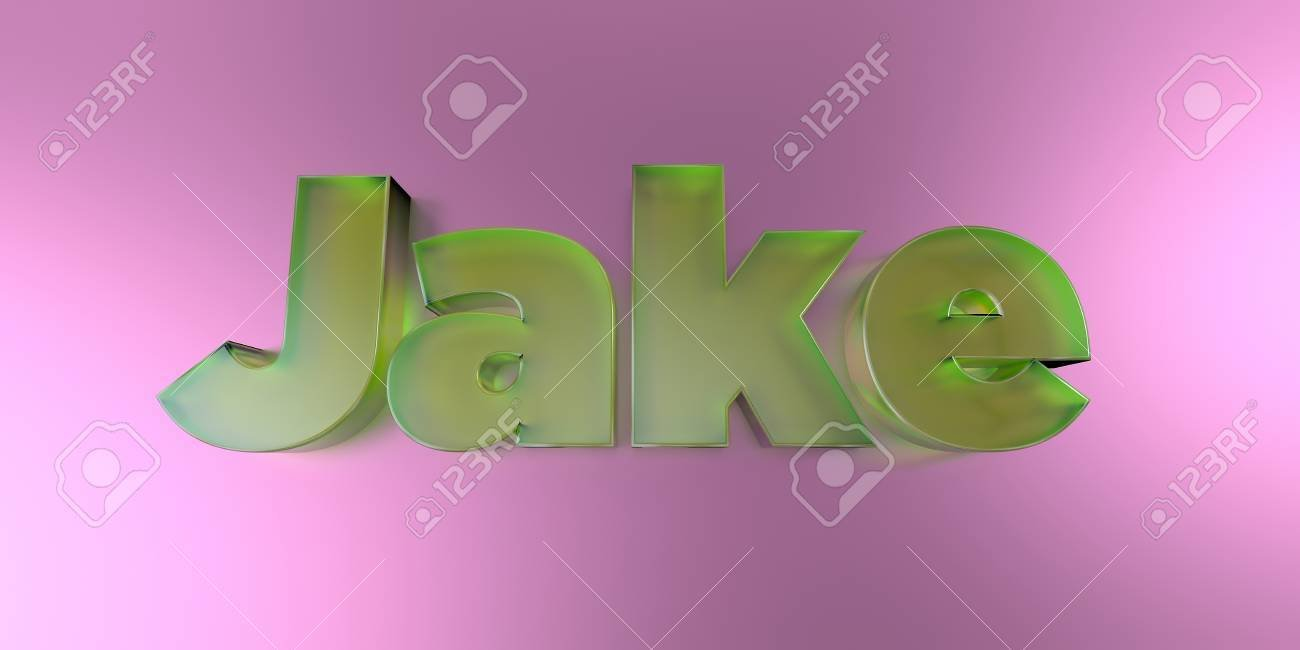 Jake   Colorful Glass Text On Vibrant Background   3D Rendered 1300x650