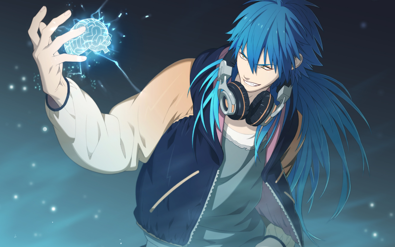 Blue Haired Anime Boy 1680 x 1050 Download Close 1680x1050
