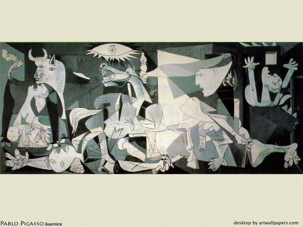Pin Guernica Wallpaper Pablo Picasso Paintings Background 1024x768
