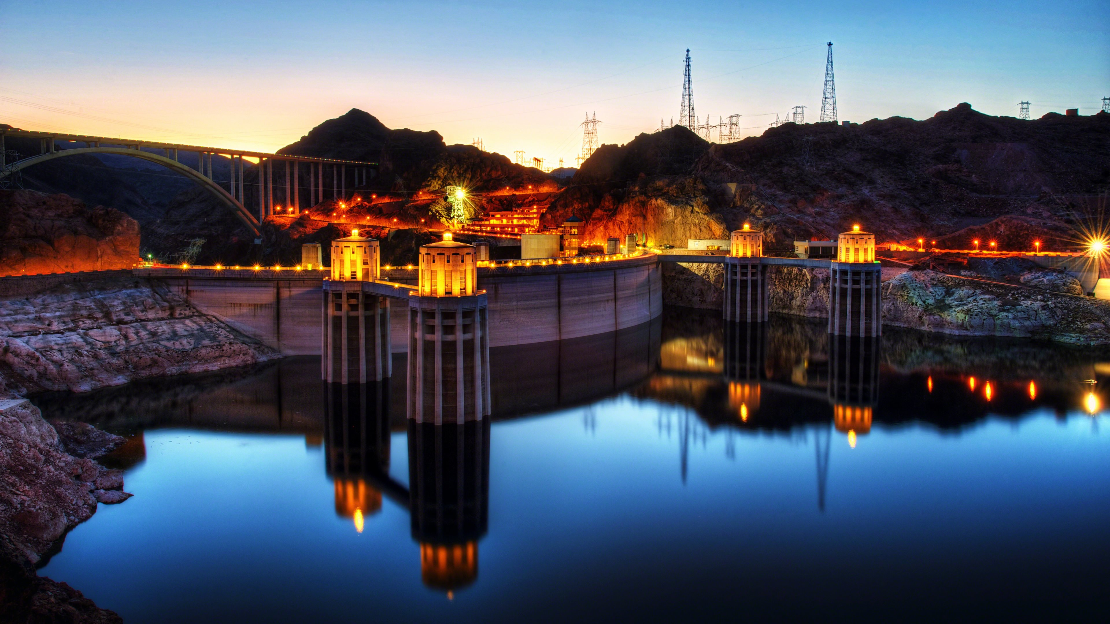 Hoover Dam wallpapers HD for desktop backgrounds 3840x2160