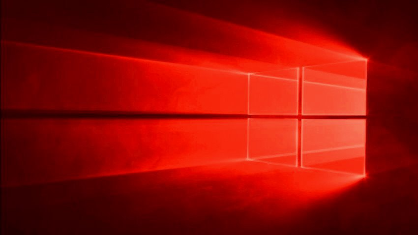 Red Wallpaper Windows 10