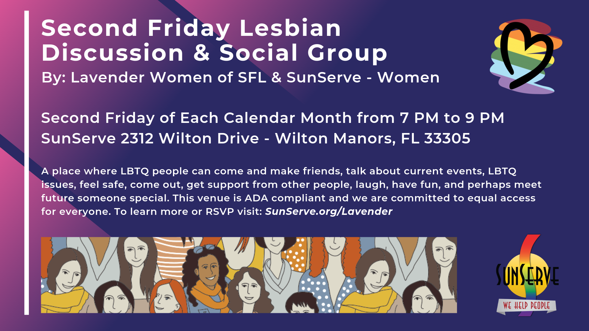 Lavender Women LBTQ Social Group 2nd Friday of month Tickets 1920x1080