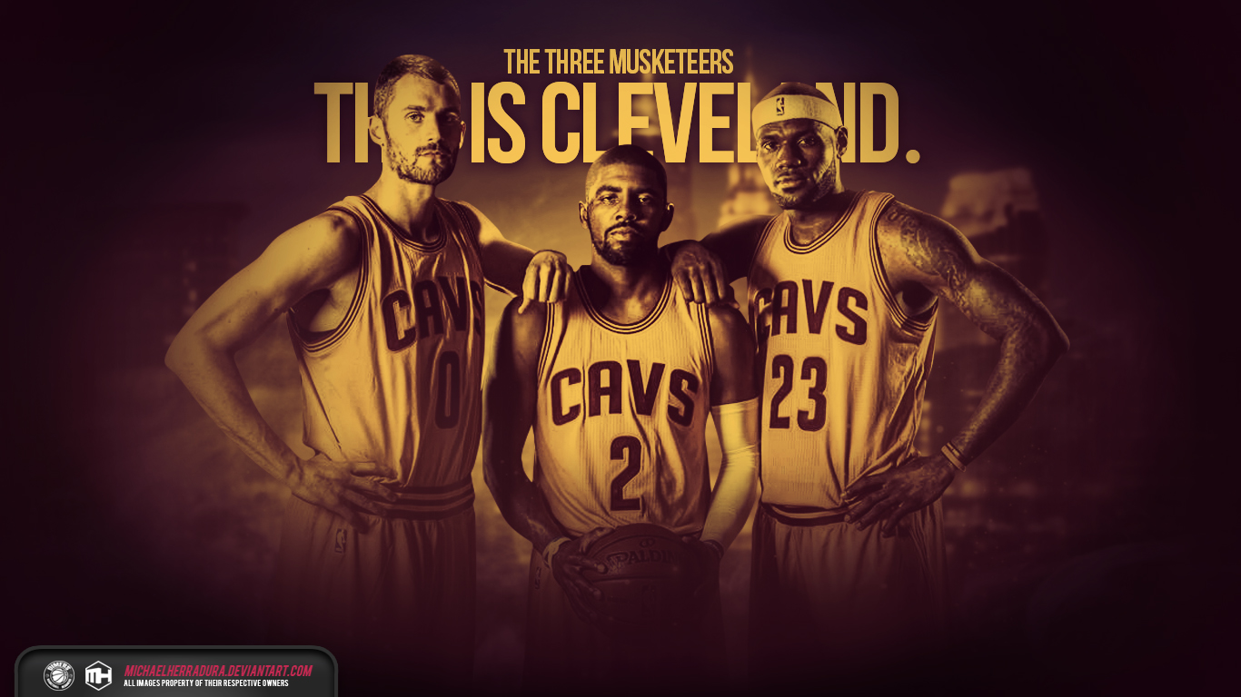 Cleveland Cavaliers The Three Musketeers wallpaper by michaelherradura 1366x768