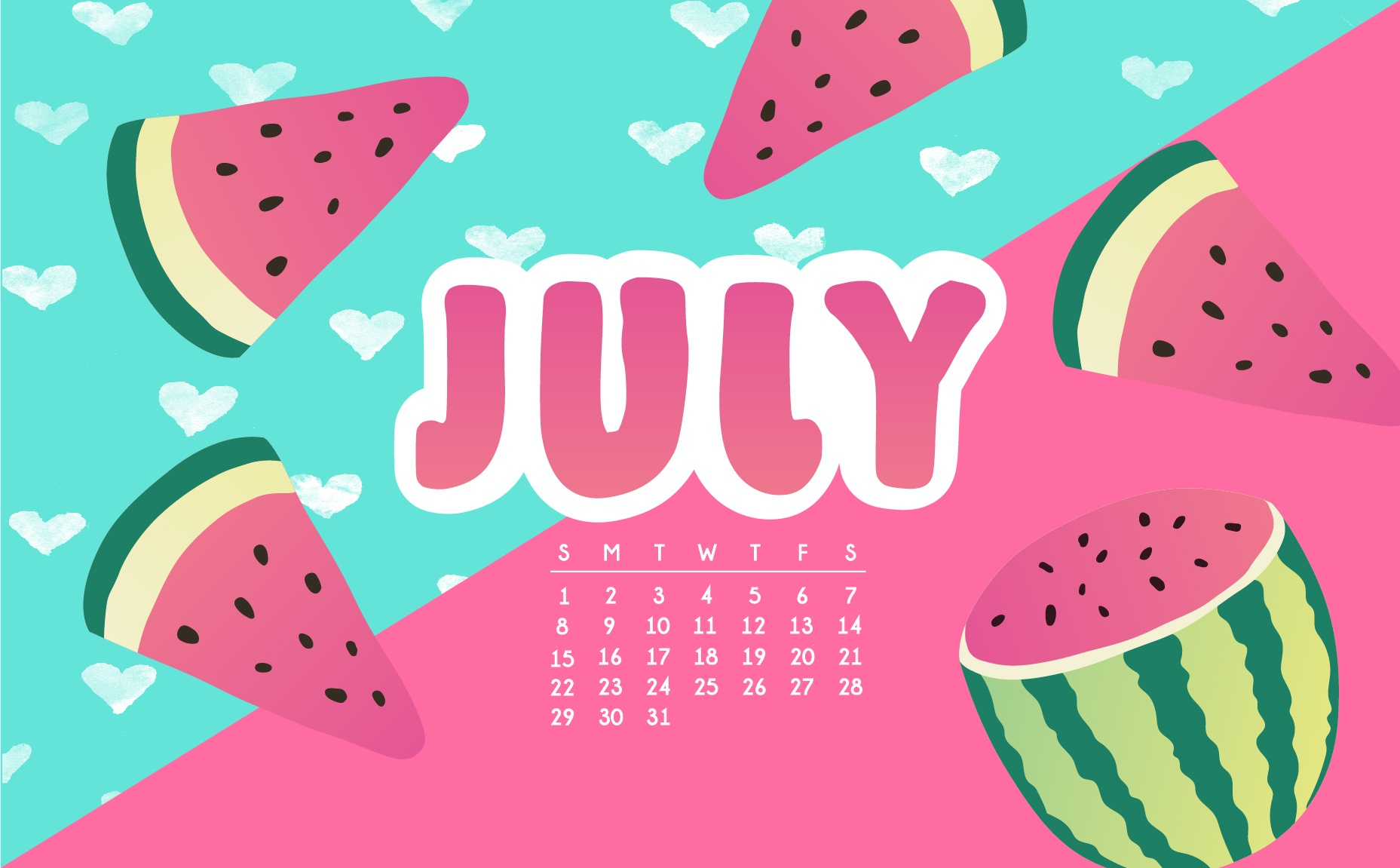 July 2018 Calendar Wallpapers Max Calendars 1857x1151