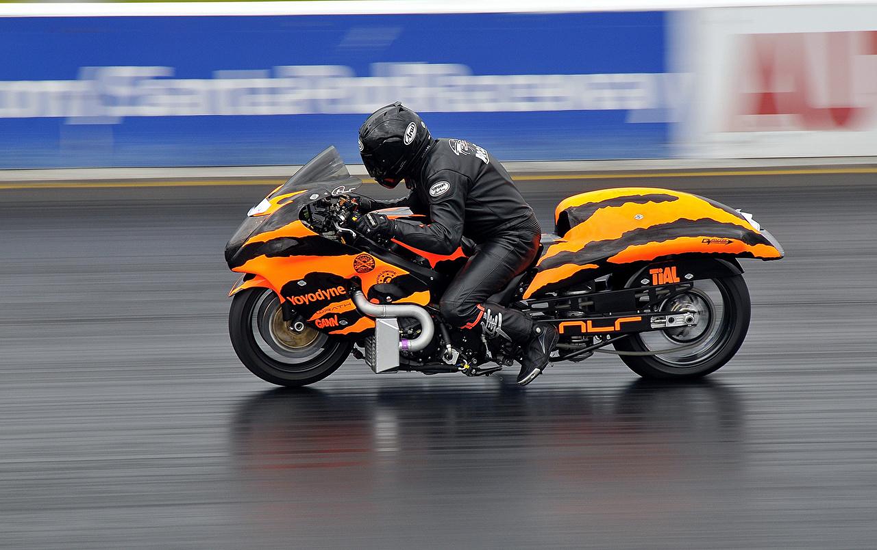 Desktop Wallpapers drag racing motorcycle Motorcyclist 1280x804