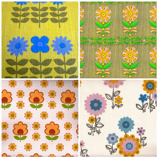70s Wallpaper Patterns Flowers French 1970s wallpaper and 615x615