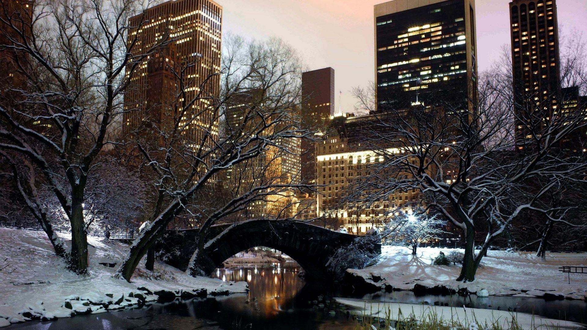 New York Winter Wallpapers   Top New York Winter Backgrounds 1920x1080