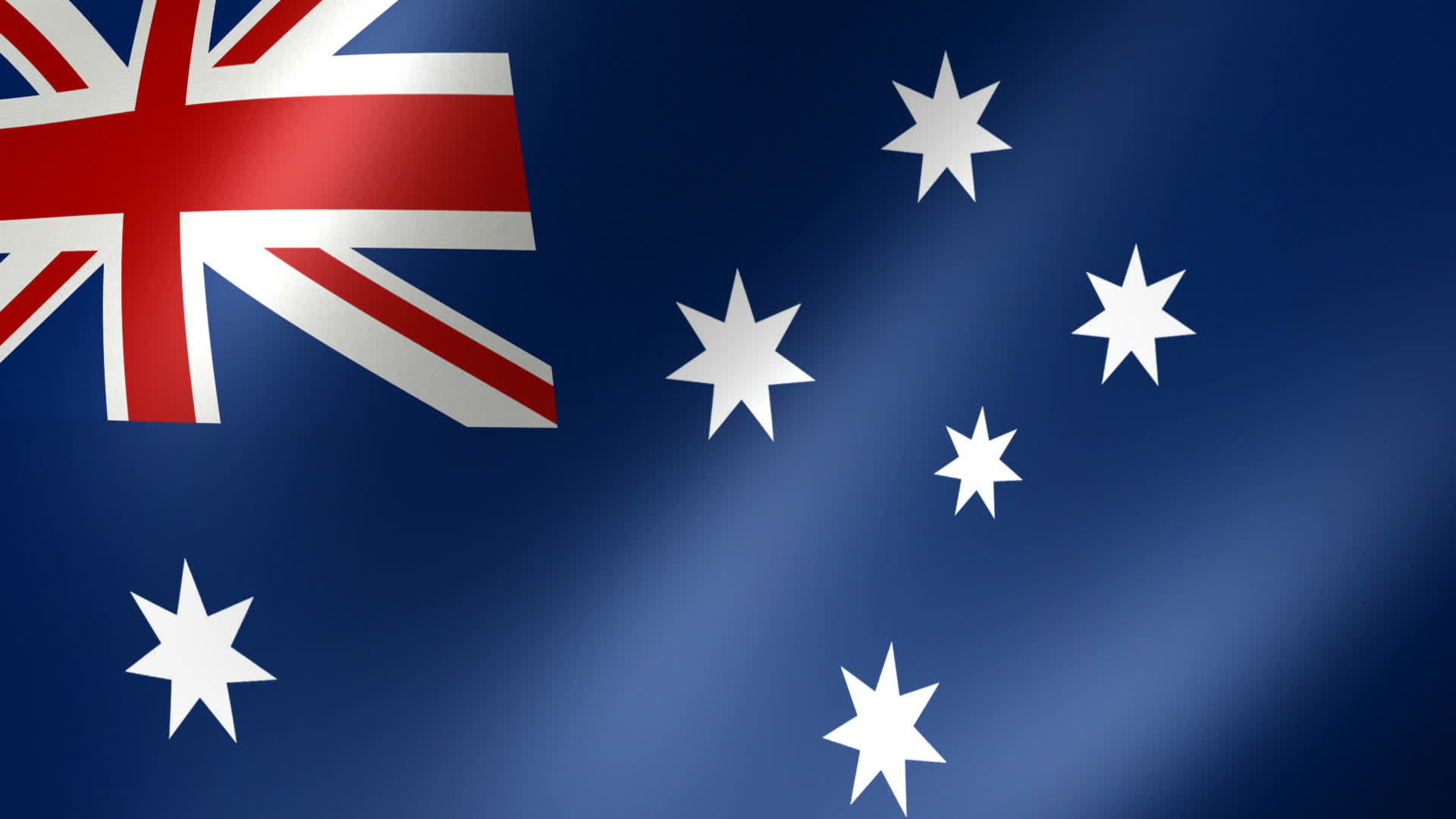 Australia Flag Waving HD Wallpaper Background Images 1920x1080