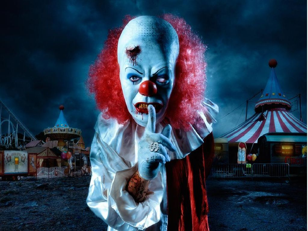 Scary Clown Wallpaper The Desktop Wallpaper 1024x768