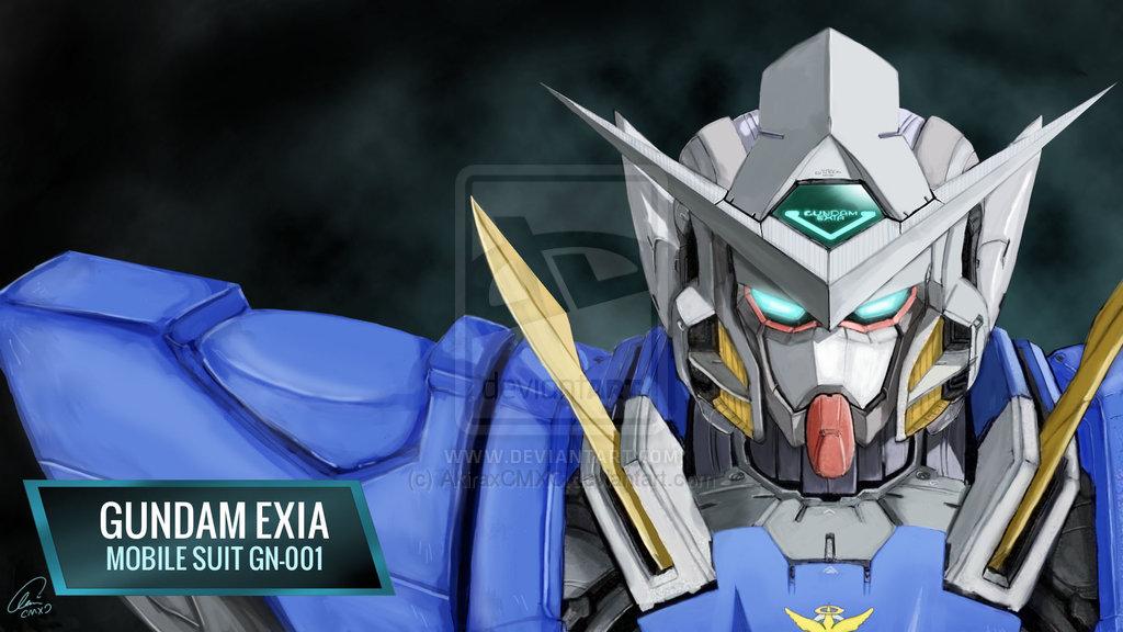 Gundam Exia Desktop Wallpaper [Commission] by AkiraxCMXC 1024x576