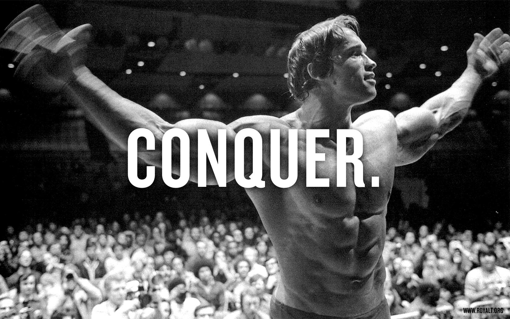 Beast Motivation Arnold Schwarzenegger Conquer 1680x1050