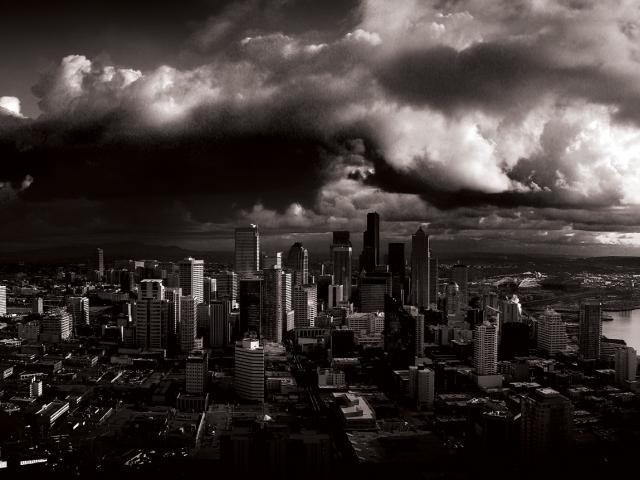stormy seattle grayscale dual monitor hd quality Normal 43 640x480 640x480