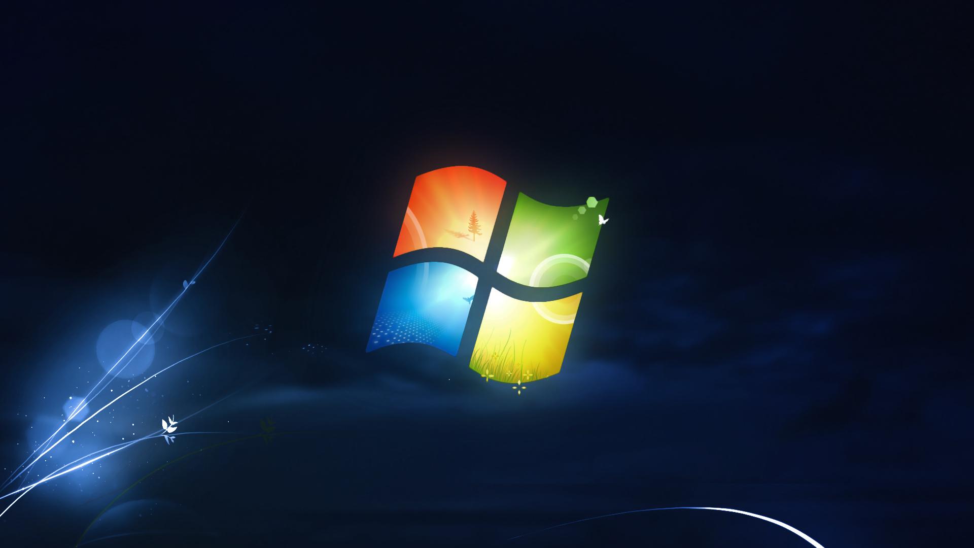Free Download Windows 7 Black Wallpaper Hd Wallpaper 796606