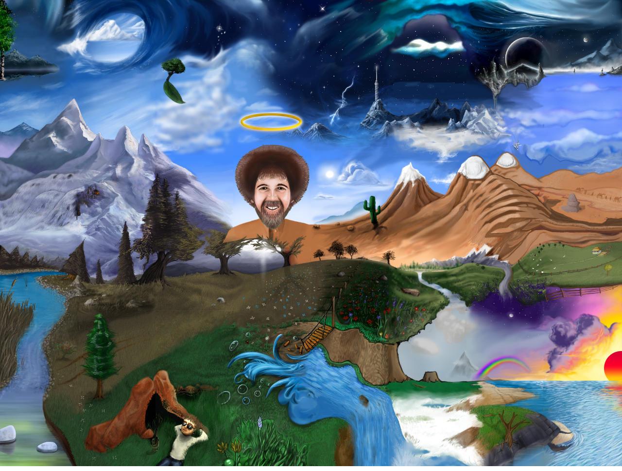 Bob Ross Wallpaper - WallpaperSafari
