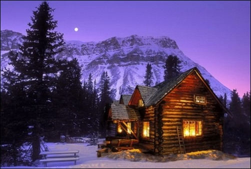 Winter Mountain Cabin Backgrounds Shoki cabin winter wallpaper 502x339