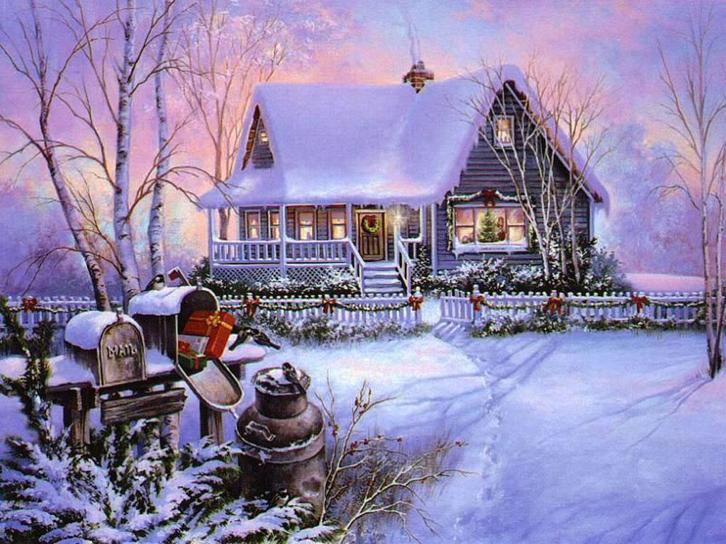 Christmas Scenes Desktop Wallpapers 1024x768