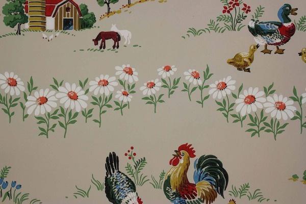 farm wallpaper vintage Vintage Wallpaper Pinterest 600x400