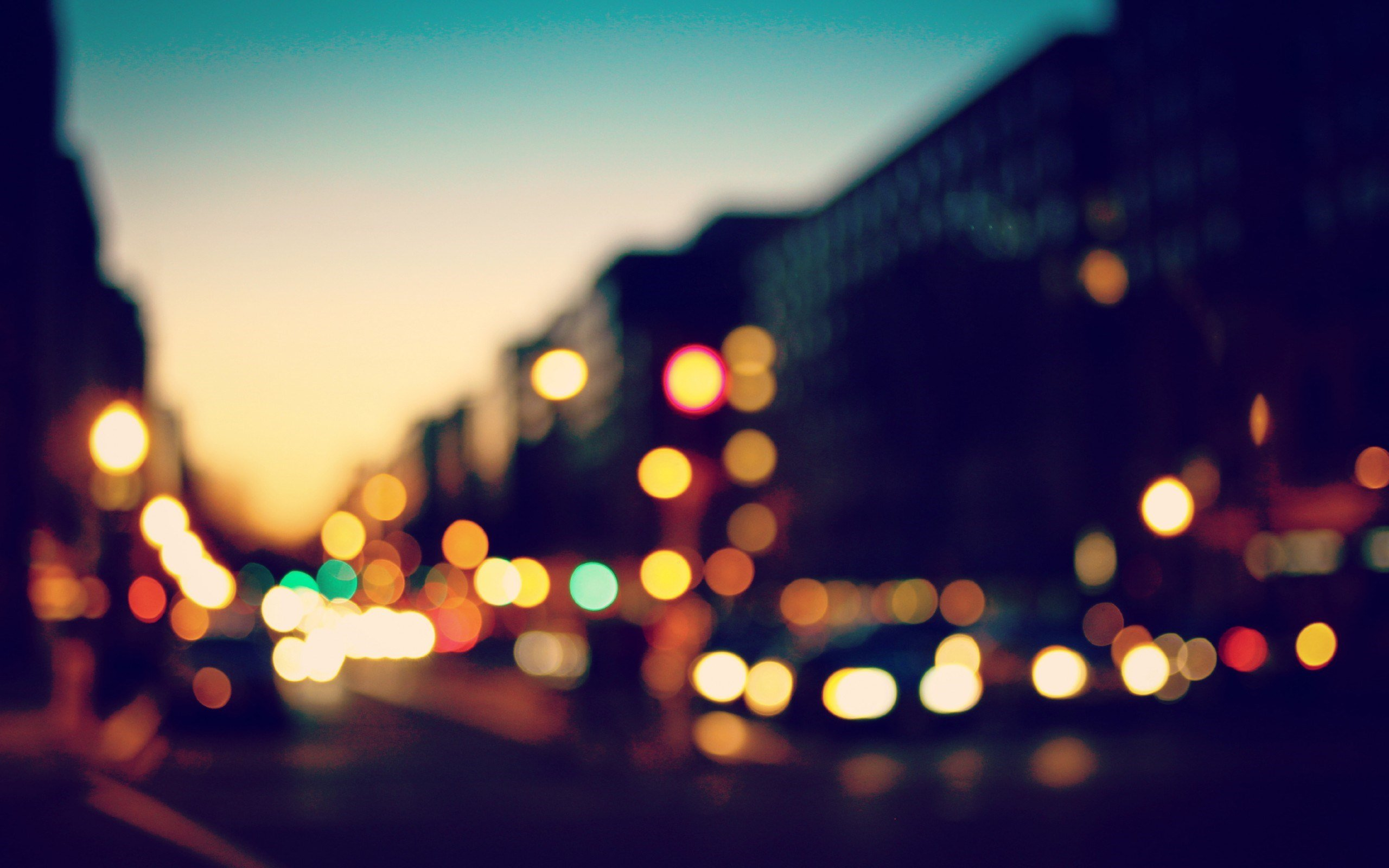 bokeh city lights photo fanciful evening hd wallpaper 2560x1600