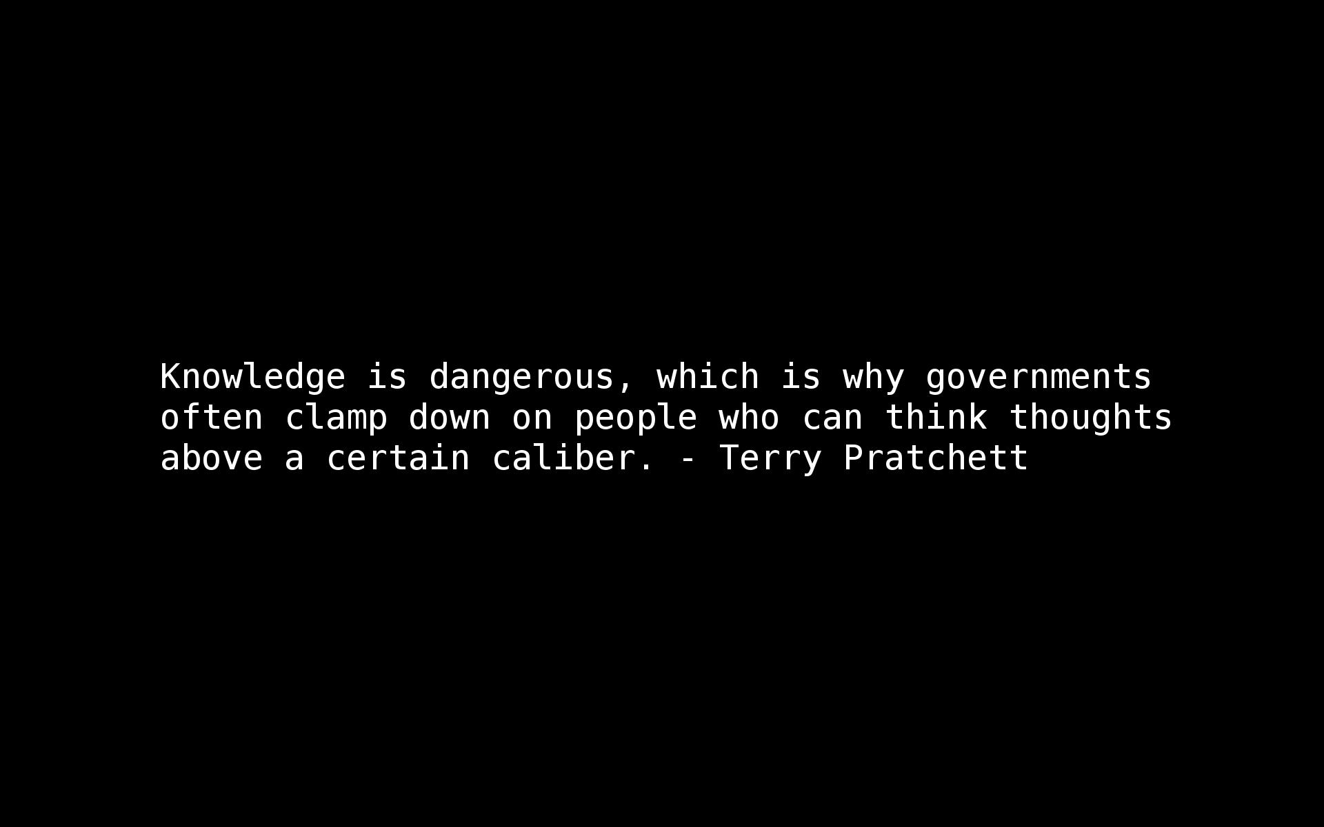 Quotes terry pratchett knowledge wallpaper 1920x1200 8560 1920x1200