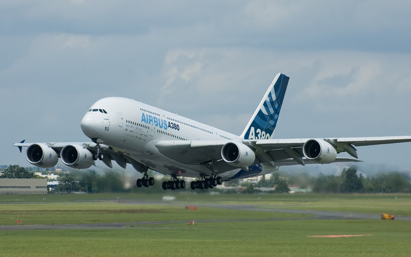 Airbus A380 800F Airplane   HD Wallpapers Widescreen   1440x900 1440x900