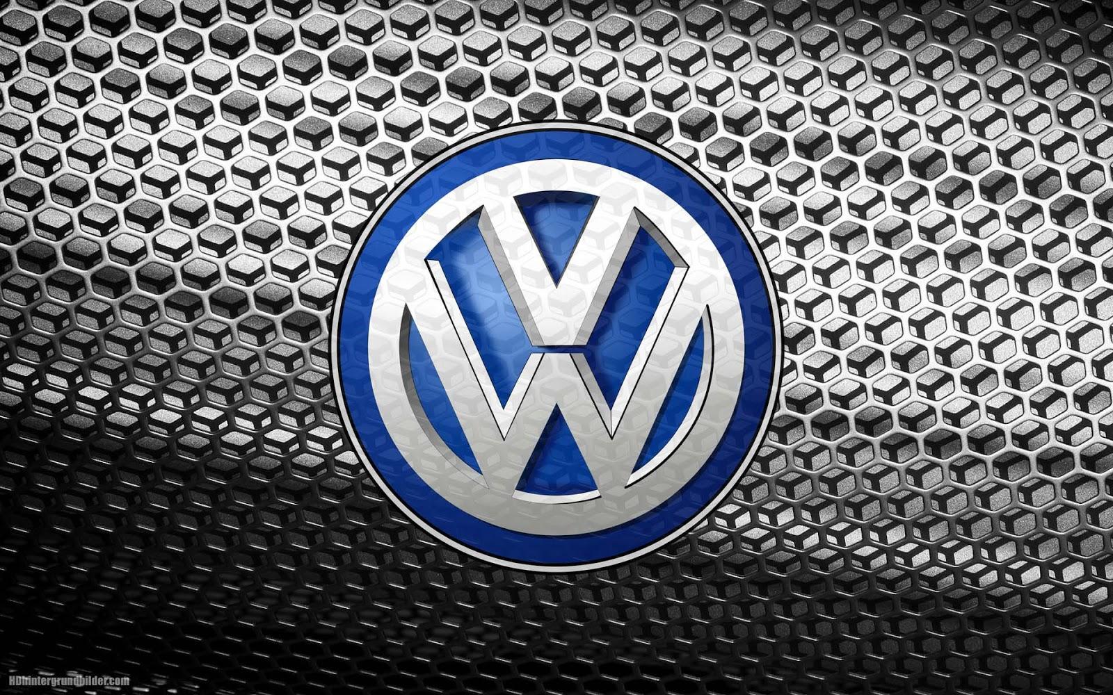 Schnen grauen metall VW wallpaper mit VW logo Volkswagen 1600x1000