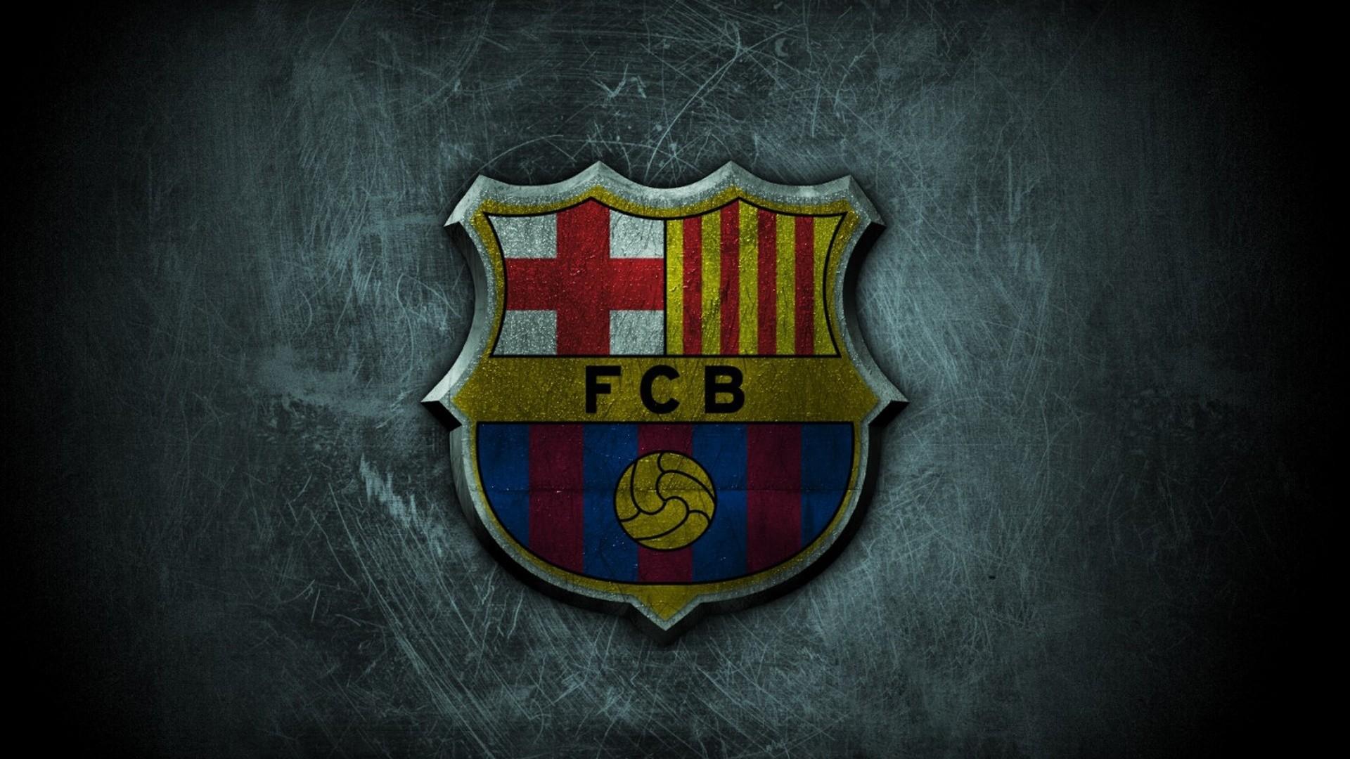 Barcelona FC Football Logo HD Wallpaper of Football   hdwallpaper2013 1920x1080