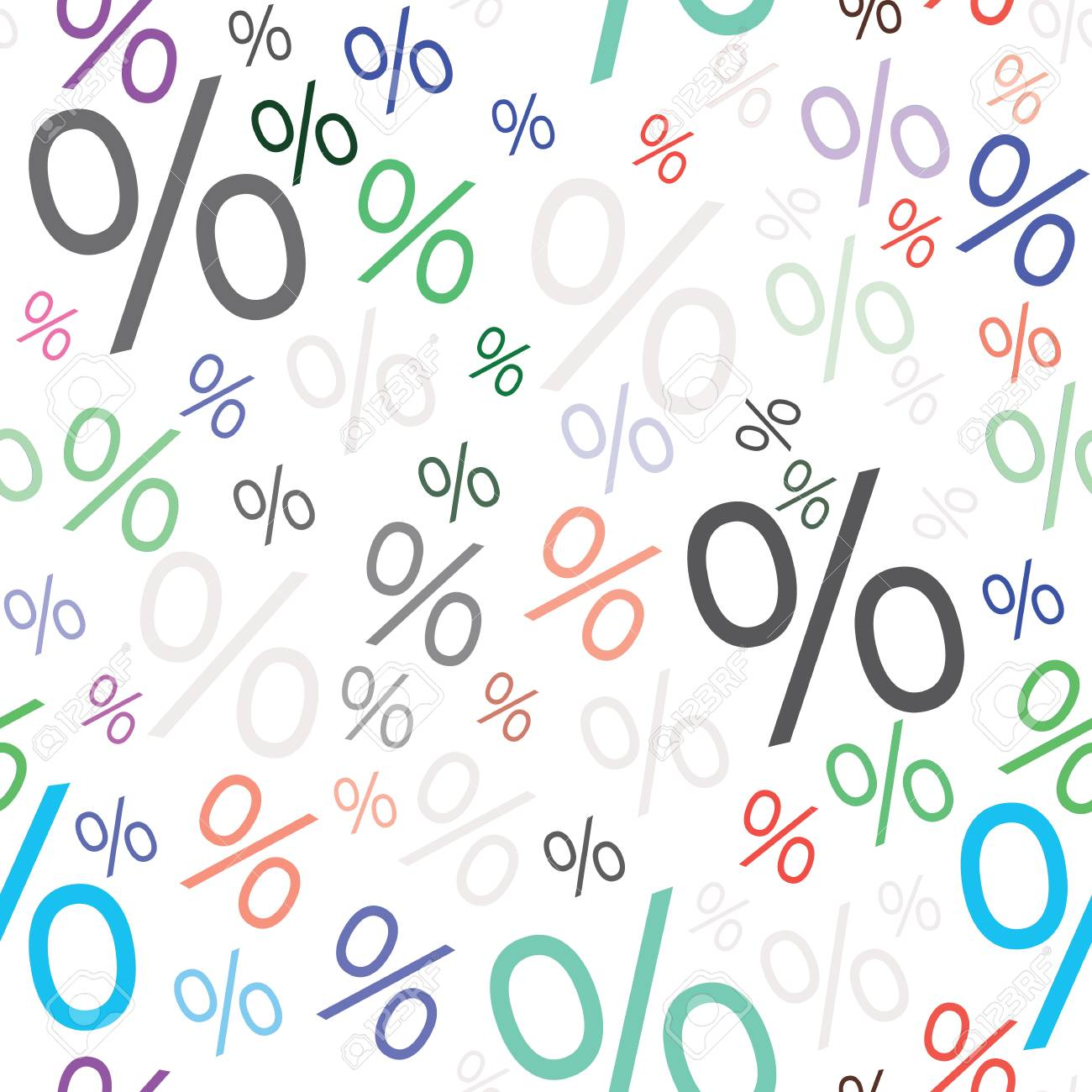 Percent Seamless Business Tax Background Discount Illustration 1300x1300