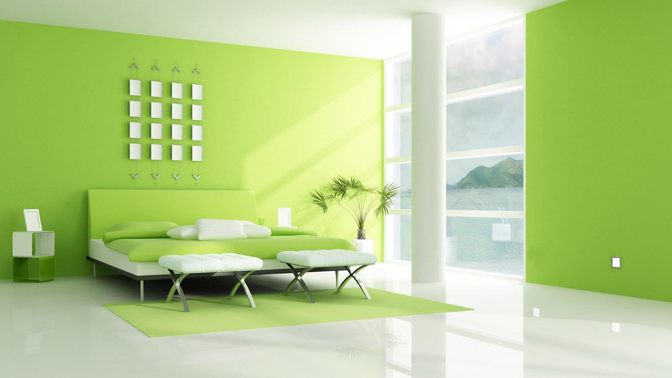 bedroom interior amazing wallpaper green bedroom style minimalism 1366x768
