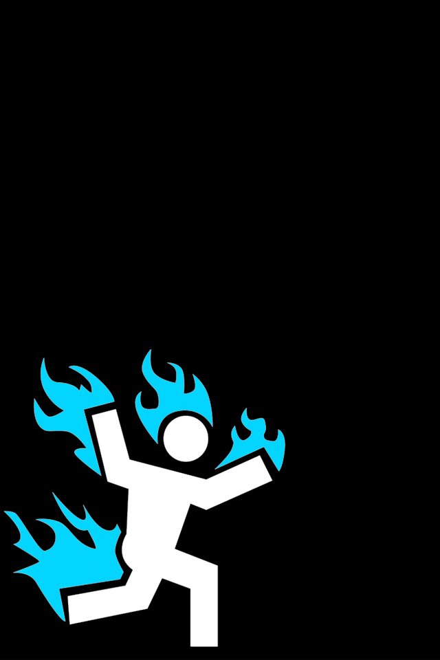 Cool Backgrounds For Men Hd men on fire iphone 4 640x960