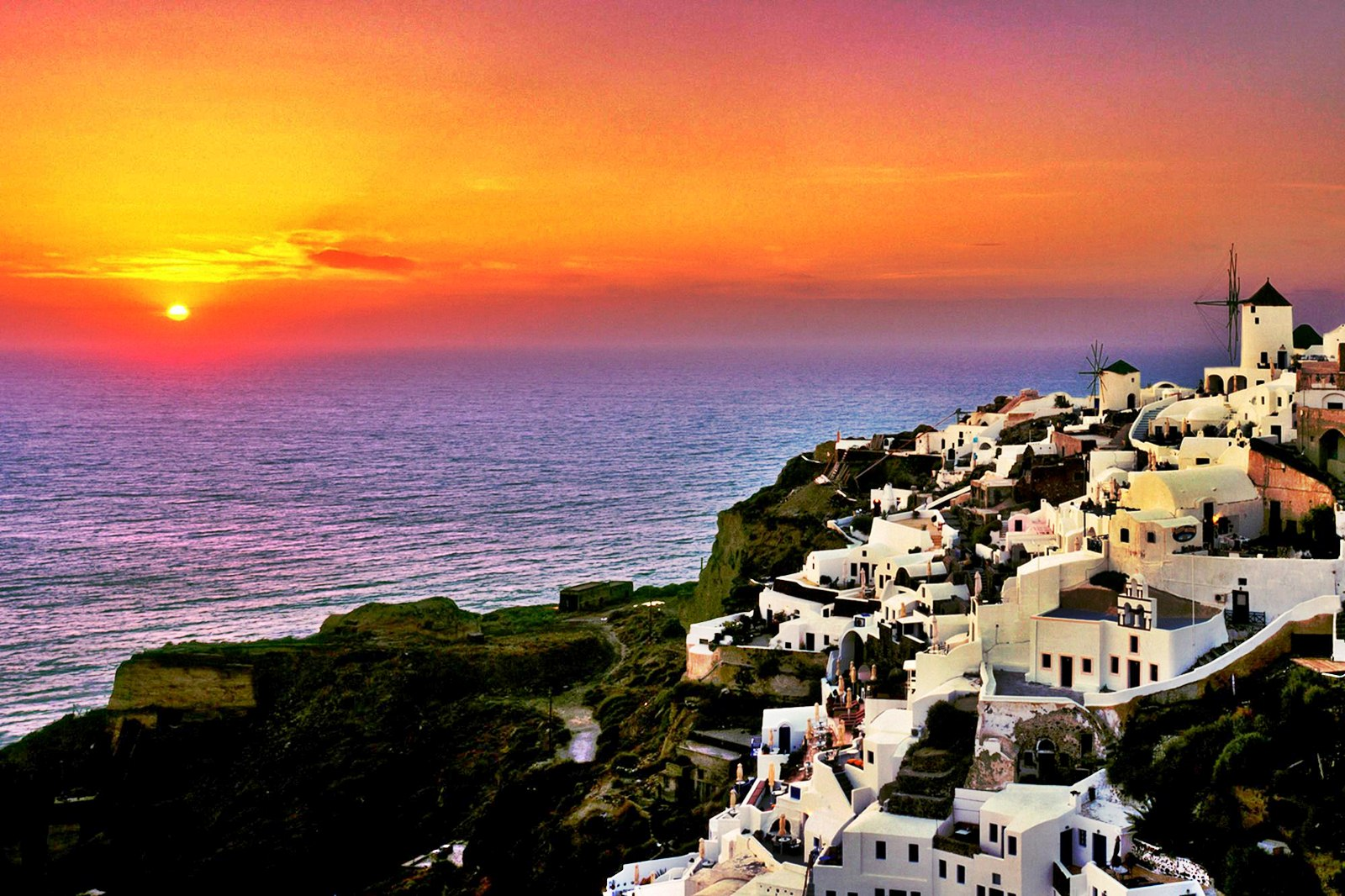 35] Santorini Greece Wallpapers on WallpaperSafari 1600x1066