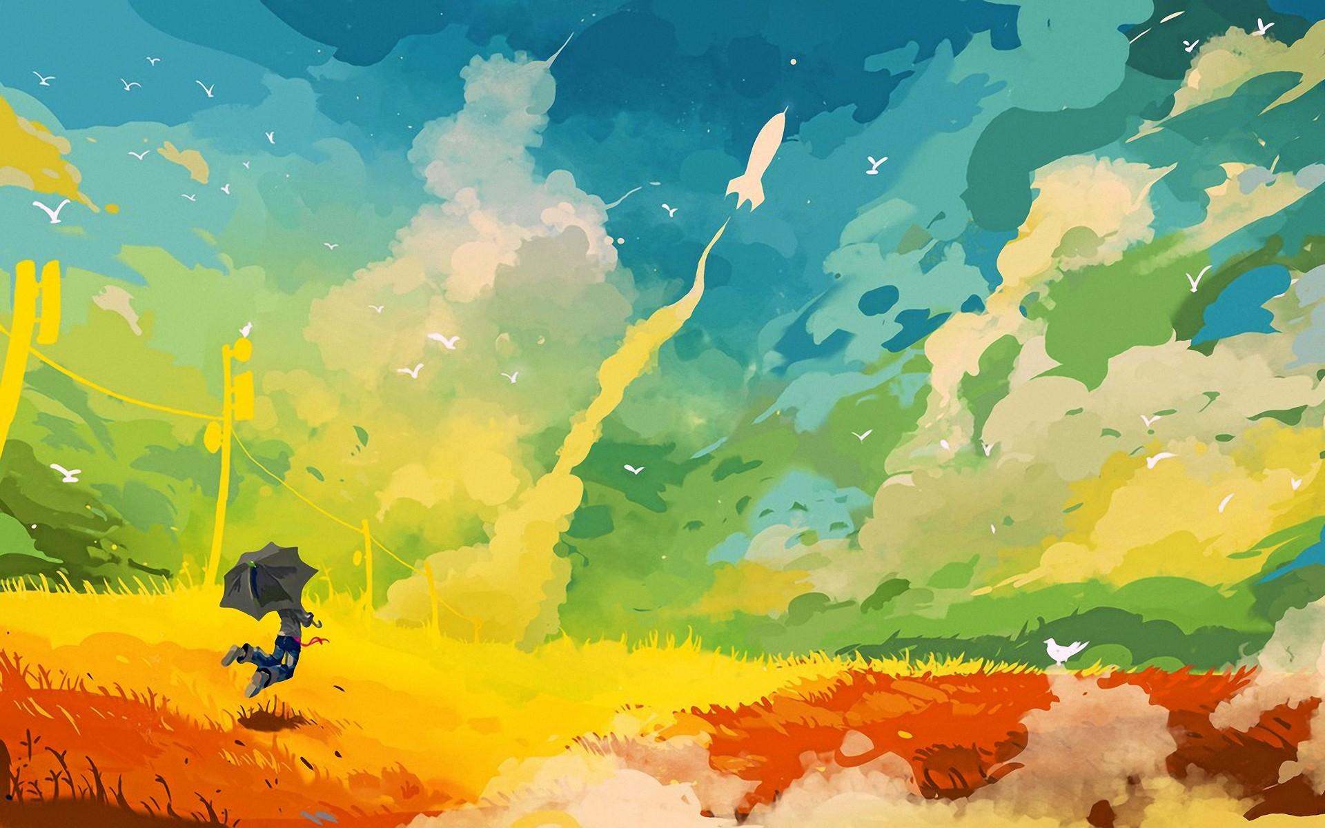 Art fondos de pantalla Resumen multicolor Digital Art fotos gratis 1920x1200
