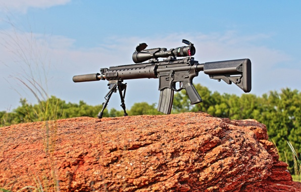 Wallpaper mk12 sniper rifle weapons stone wallpapers weapon 596x380