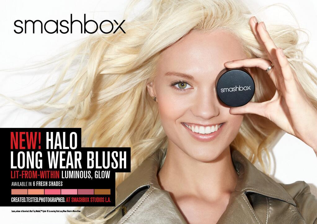 Antm winners images Laura James for Smashbox Cosmetics HD 1022x723