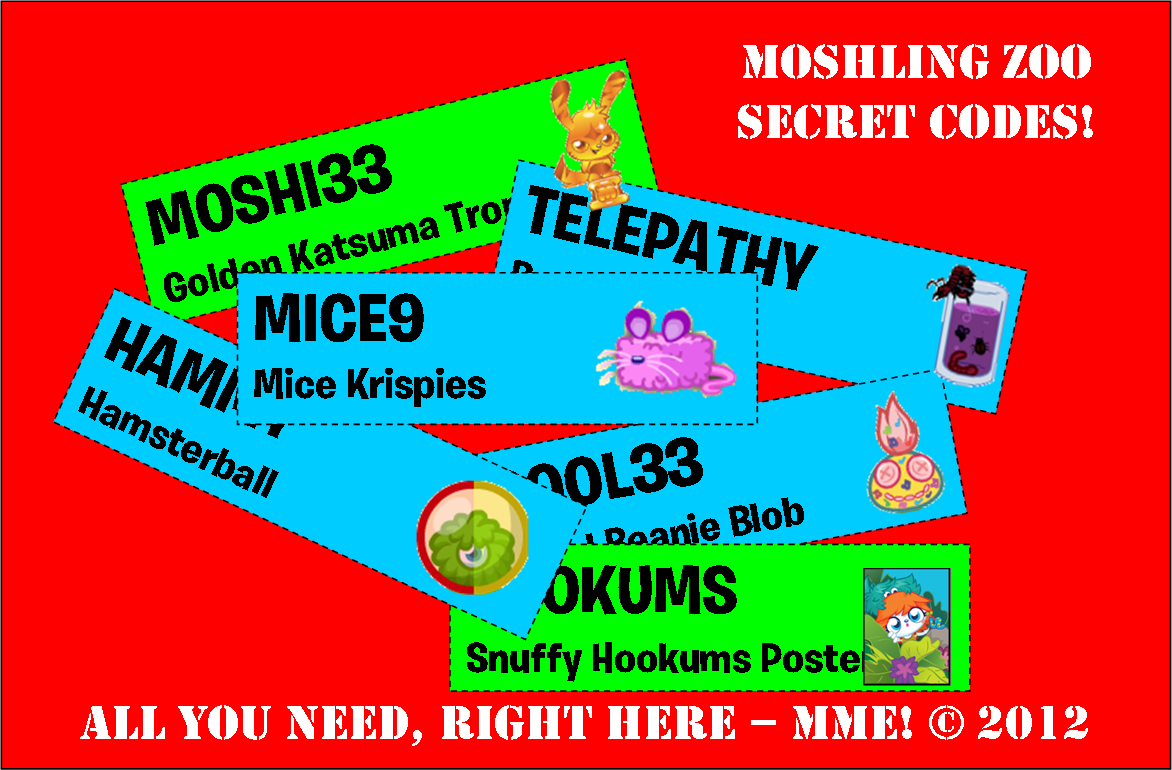 Free Food Codes For Moshi Monsters