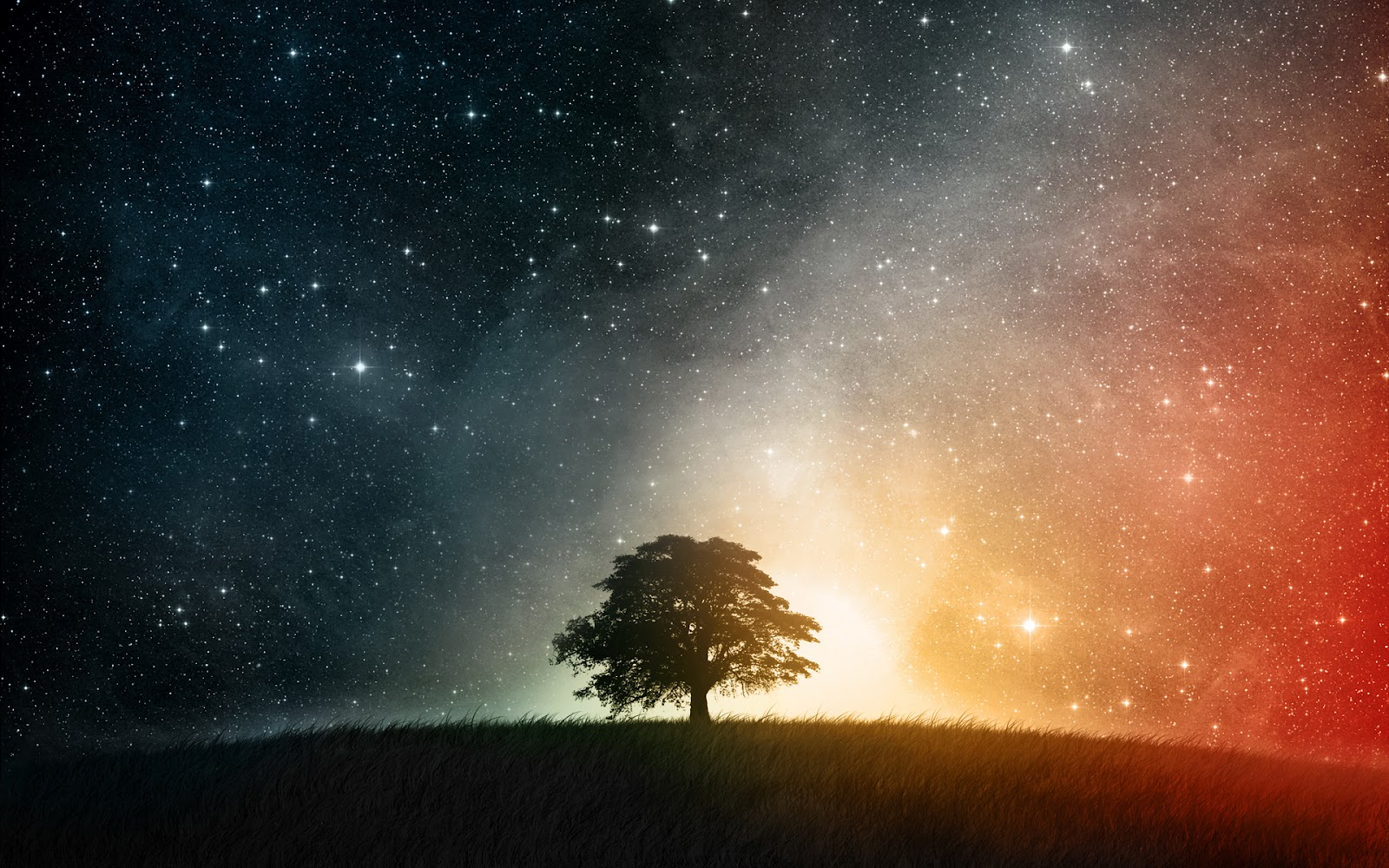 wallpapers hd night sky 1600x1000