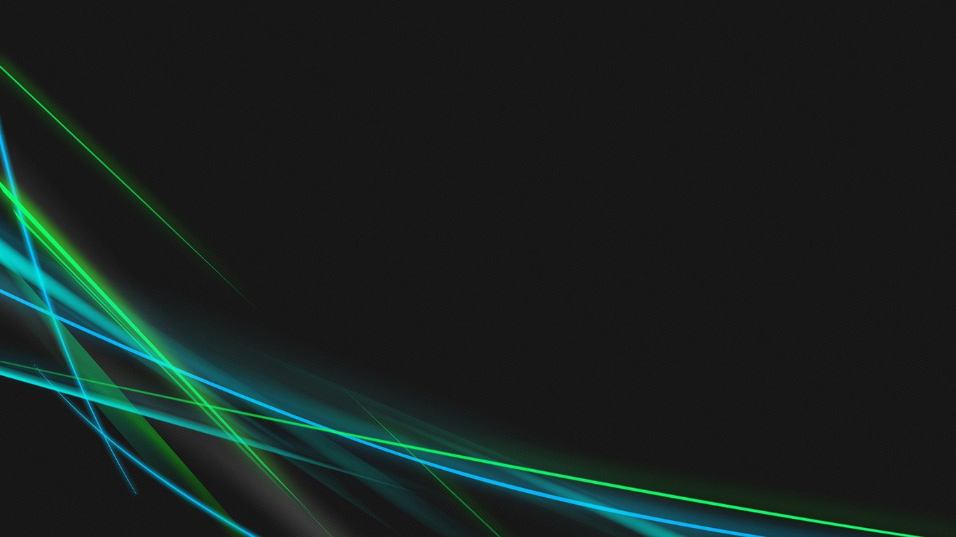 Blue and green neon curves wallpaper 6551 1366x768