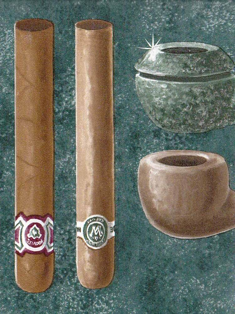 Cigar Pipe Display on Dark Green Only 4 Wallpaper Border 505 eBay 750x1000