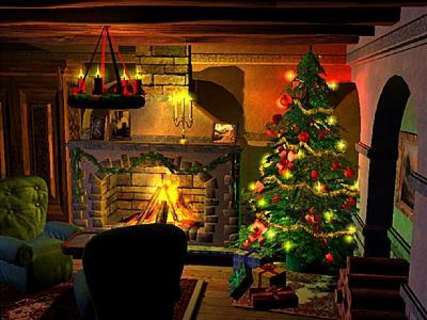 christmas fireplace 612x459