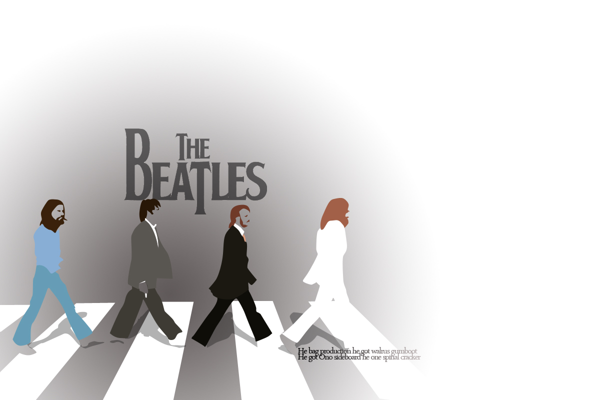 SCAN The Beatles Art Android Wallpaper QR Code 1200x800