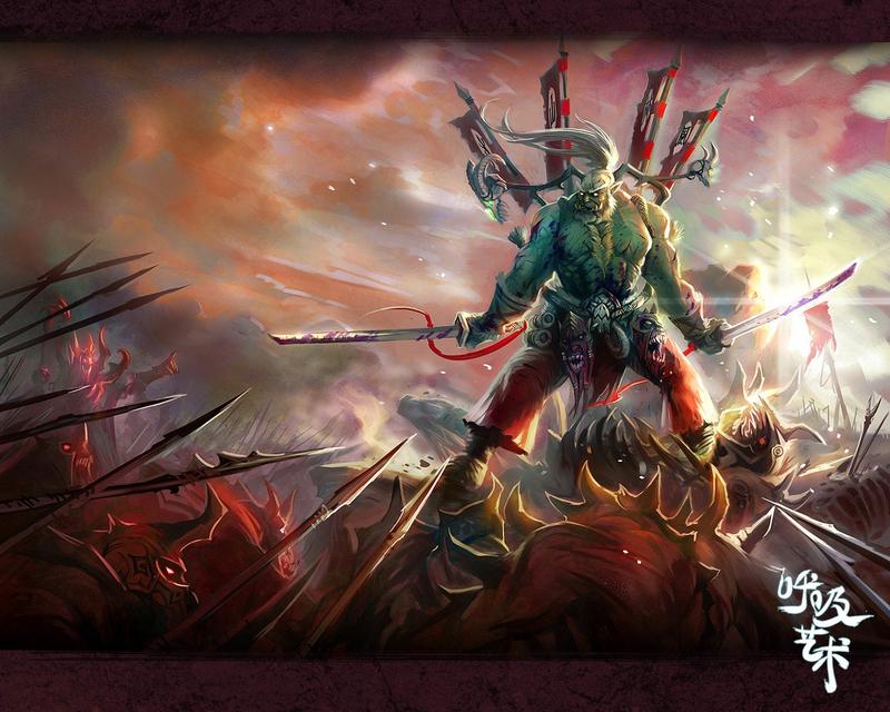 art orc Warrior Video Games World of Warcraft HD Desktop Wallpaper 800x640