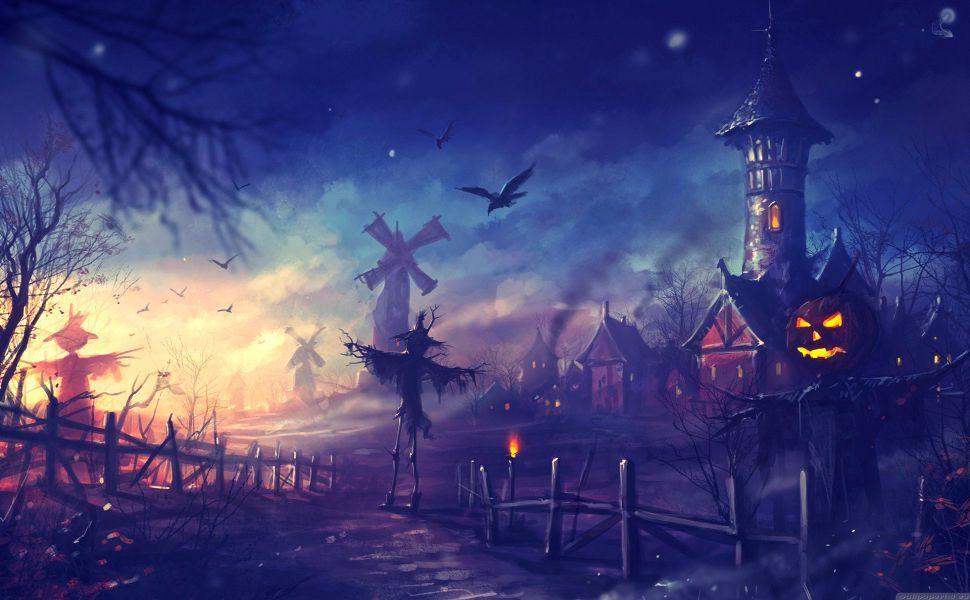 Halloween Night HD Wallpaper wallpaper in 2019 Halloween 970x600