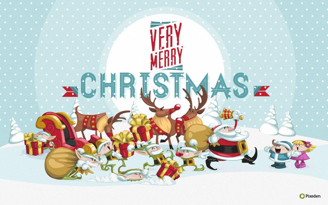 Christmas Wallpaper Widescreen by Pixeden 1131x707