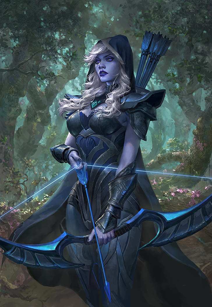HD wallpaper digital art artwork women video games Dota 2 728x1055