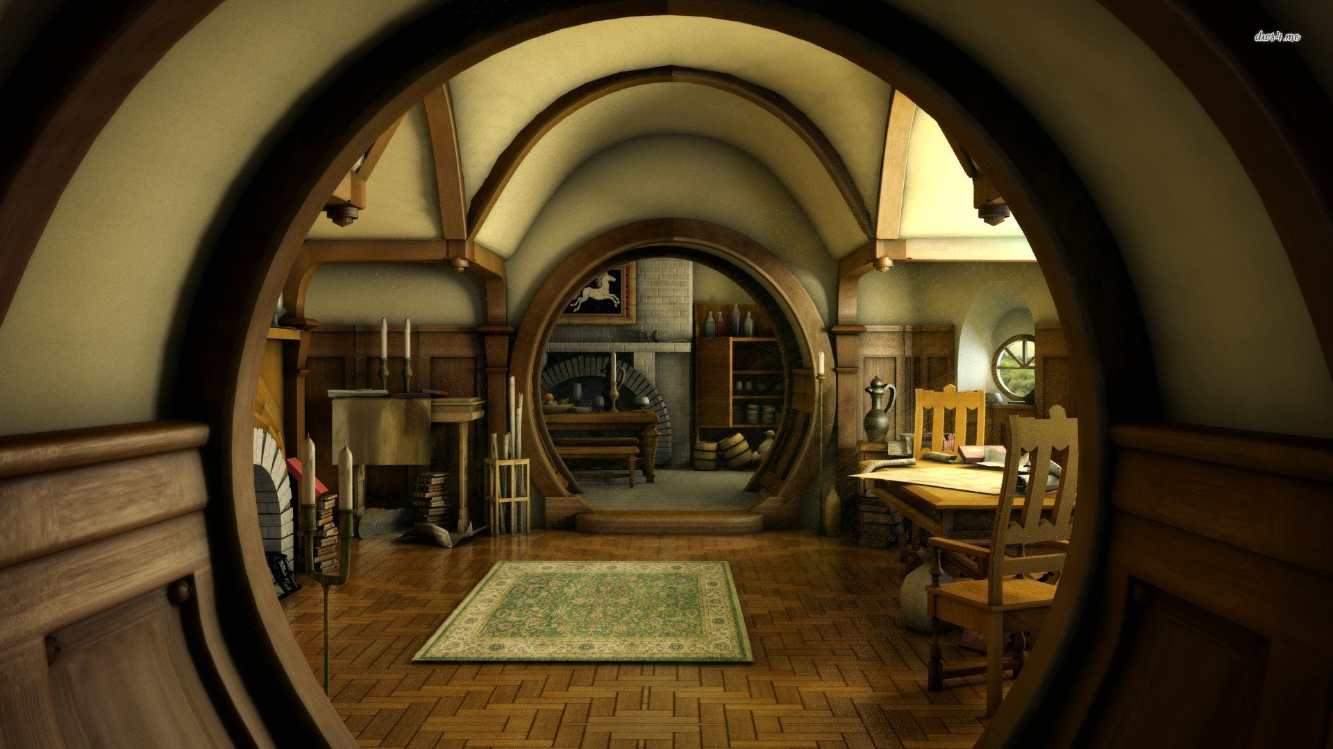 Hobbit house   The Hobbit wallpaper 1280x800 Hobbit house   The Hobbit 1920x1080