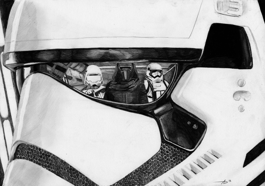 First Order Stormtrooper by Alex Dunn 854x600